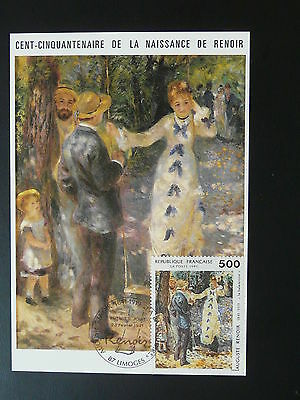 paintings Auguste Renoir impressionism maximum card 1991