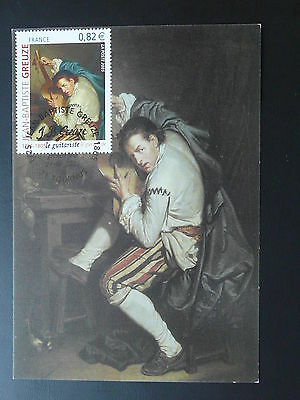 paintings Greuze music instrument maximum card 2005 (2)