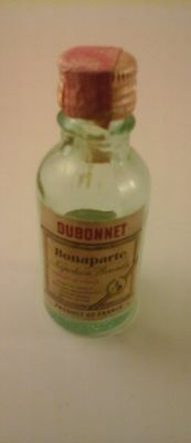 Vtg 1940's-60's EMPTY Mini Liquor Bottle DUBONNET BONAPARTE BRANDY 1 oz. RARE