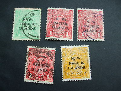 A Collection Of AUSTRALIA USED STAMPS N.W Pacific Islands OVERPRINT