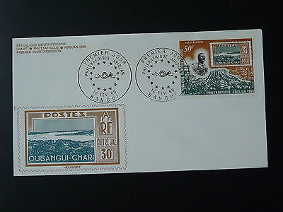 stamp on stamp Philexafrique 1969 FDC Central African Republic 74034