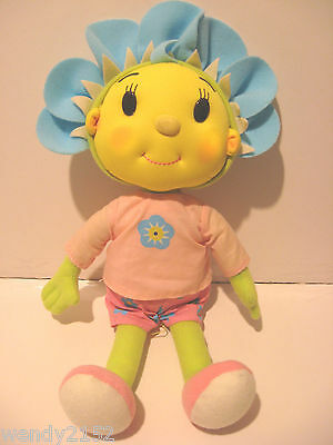 """Fifi & The Flowertots Singing Doll 14"""" Lullaby Soft Toy Light Up Glow Cheeks"""