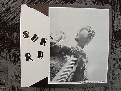SUN RA POSTER ViNTaGe 1970's JaZZ FLyeR SATURN RECORDS CHiCaGo NeW oLD SToCK