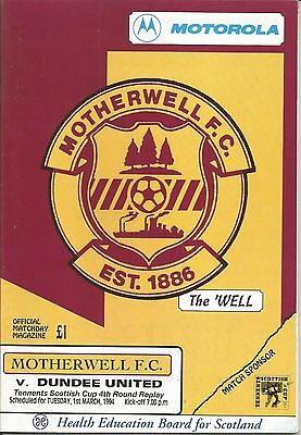 93/94 Scottish Cup Motherwell v Dundee United