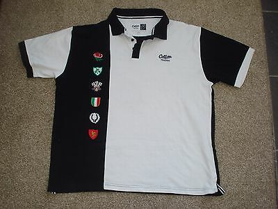 2XL 6 Nations Rugby Union Polo Shirt Cotton Traders
