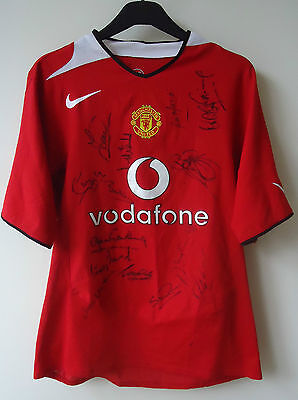 Manchester United  Legends Football Shirt By Nike  Signed By 14