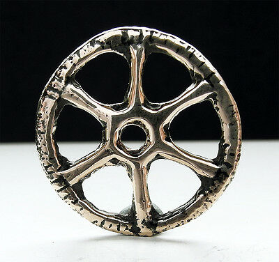 Very rare genuine ancient Celtic bronze Wheel of Taranis