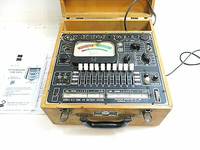 VINTAGE PRECISION MODEL 612 TUBE AND BATTERY TESTER W/ COPIES OF MANUAL n1