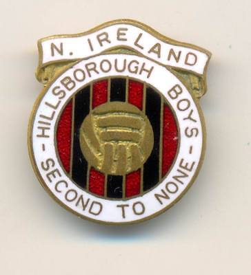 An old North Ireland Hillsborough Boys Football Club badge Second to none