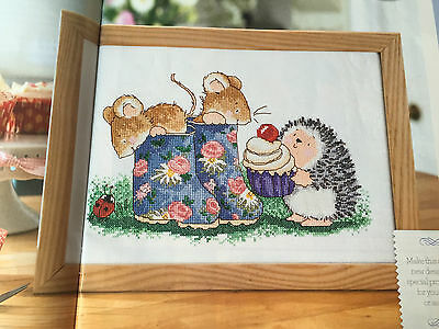 CROSS STITCH CHART Hedgerow Friends Design The Cherry on the Cake PATTERN ONLY