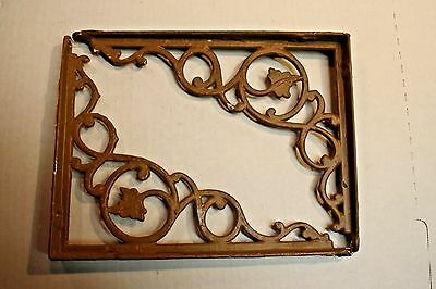 set of 2 ornate Ivy Vine vintage cast iron shelf brackets Victorian  9 X 7 inch