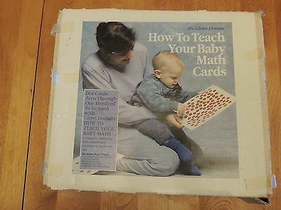 The Glenn Doman How to Teach Your Baby Math Kit Dot Cards 101 Cards in Box
