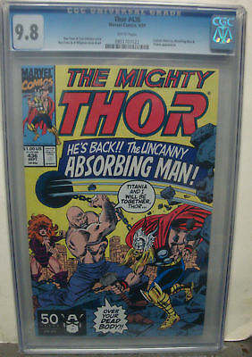 THOR #436 cgc 9.8 The Absorbing Man and Titania