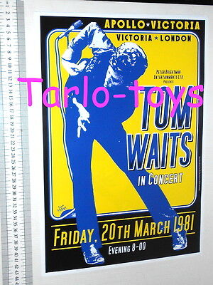 TOM WAITS - London, Uk  - 20 march 1981 - concert poster