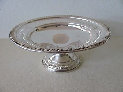 Delicate pierced Sterling Silver weighted 925 compote candy dish by Empire 202
