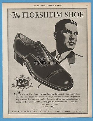 1928 Florsheim Shoe Company Chicago IL 1920s Men's Fashion Style Print Ad