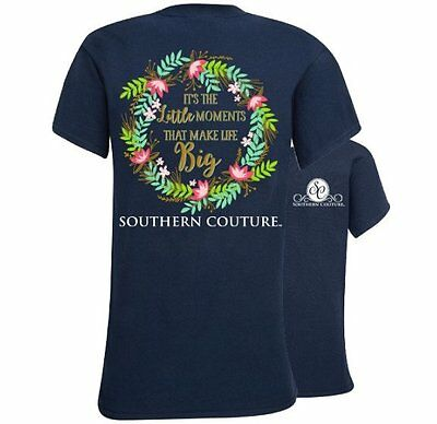 Southern Couture Little Moments Make Life Big Flowers Bright Girlie T-Shirt