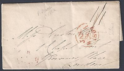Uk Gb 1809 Early Folded Letter To Grosvnor Place London Dated Jan 30, 1809 With