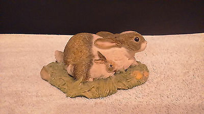 John Beswick-Rabbit & Baby-Contentment-The Countryside Series