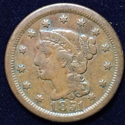 Large Cent 1851 Very Fine