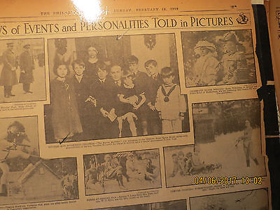Houdini with Ted Roosevelt family Photo Newspaper 1926