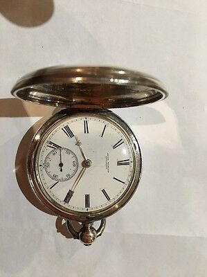 Antique Silver John Hislop Dunedin Fusee New Zealand Pocket Watch