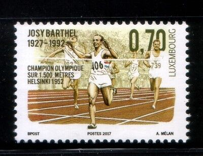 LUXEMBOURG Josy Barthel, 1952 Olympic Champion MNH stamp