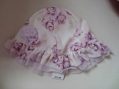 FAO Baby Girl Summer Dressup Hat Floral 18-24 Months Cute New