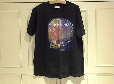 OBITUARY - Slowly We Rot - XL Shirt - Excellent Black S/Sleeve 2-sided