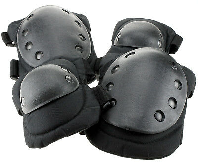 Tactical Military Army Elbow Knee Pads Airsoft Paintball Skate Equipment Set