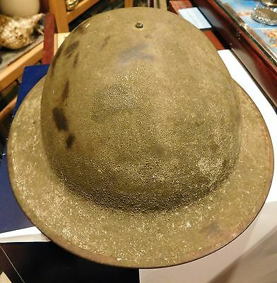 Original WW 1 US Army Doughboy Helmet with Liner M1917 Marked ZD 28