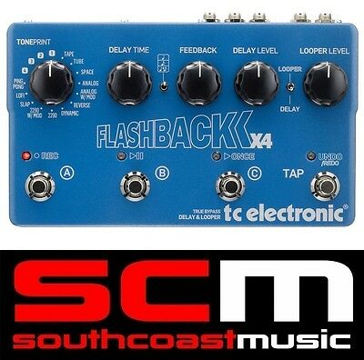 TC Electronic Flashback X4 Delay & Looper True Bypass Guitar FX Pedal New
