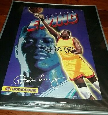Rare Patrick Ewing Signed Poster New York Knicks 95 Promo Proof Autographed Coa
