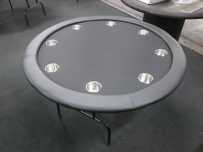 "52"" Round Professional Poker Table  +  Foldable  Leg [Black]  + 2 Cards + Cover"