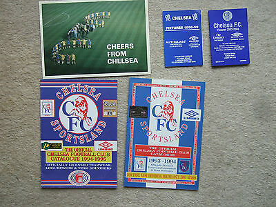 official club fixture card chelsea 1998-99