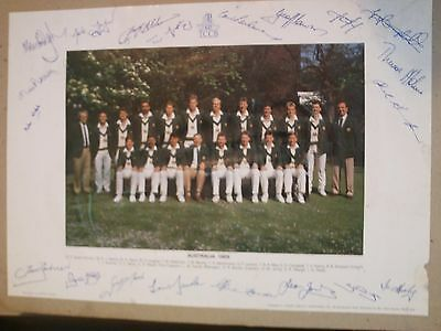 Australian Tour Party 1989 with players signatures