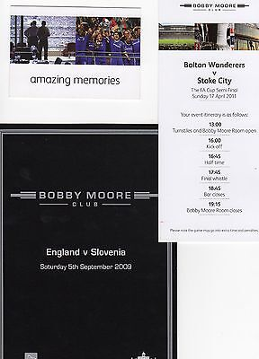 2009 Event Card England  Slovenia 4 page card issue from Wembley Superb
