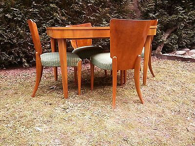 Art Deco Model H-214 Dining Set by Jindrich Halabala table and 4 chairs  1950 's