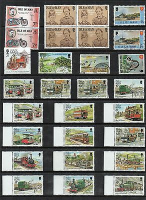 Isle of MAN Mint and Used STAMP Collection Inc TRAINS Railway REF:QG148a