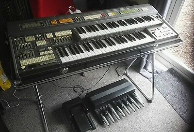 Elka X30 Stage Organ, Drawbars, Percussion and Rotary effect 1985. With pedals