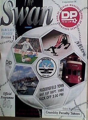 SWANSEA CITY v HUDDERSFIELD TOWN  90-91 LEAGUE MATCH