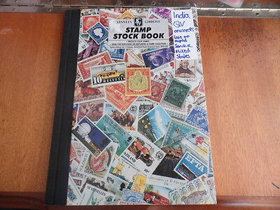 India Stock-Book ~ Contain QV/KEVII/KGV/KGVI/Mixed States///Etc ~ All Used