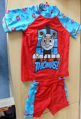 Thomas The Tank Engine Boots Mini Club  2 Piece Swimsuit 1-1.5 Years