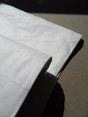 "Antique white smooth UNUSED Irish linen fabric  72"" wide x 1yd (4 yds available)"