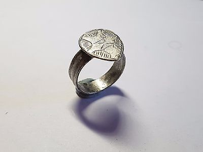 Medieval Silver Ring 10th-12th  Century AD