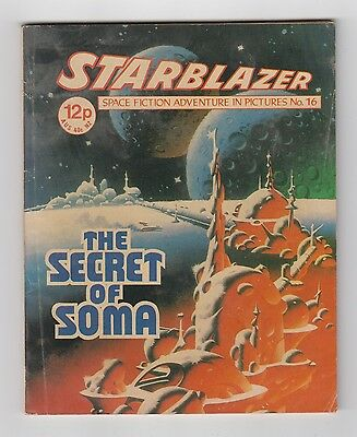 Starblazer Picture Library,no 30,1980 Issue,good For Age,very Rare Sci-Fi Comic.