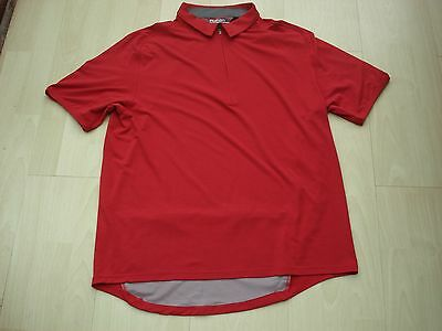 Rohan Cadence Dryknit  Quality Smart Casual Leisure Polo Shirt Red Size Large