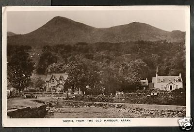 GHP 1947 Postcard, Corrie from the Old Harbour, Arran, Bute