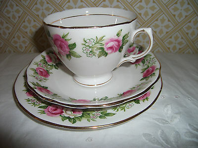 Four Colclough 'enchantment' Bone China Tea Trios: Cup Saucer & Round Tea Plate