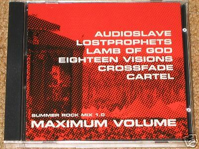CHRIS CORNELL, Audioslave, CROSSFADE, Lamb Of God, LOSTPROPHETS - PROMO CD! NEW!